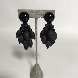 Jewelry - Black bead clip-on earrings